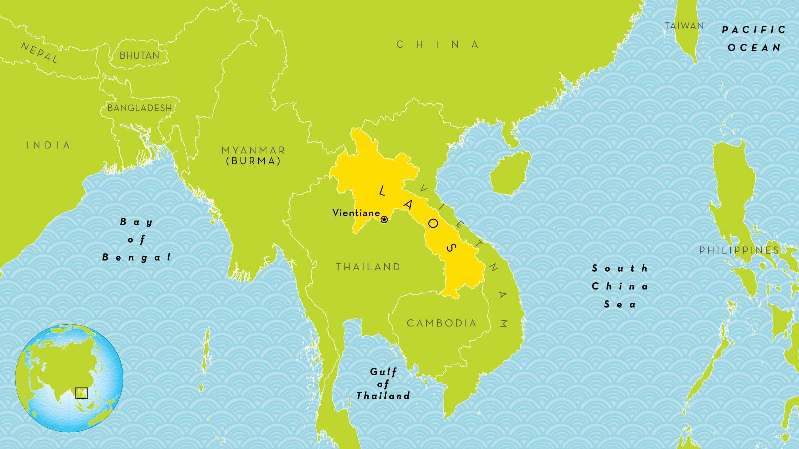 Location Of Asia In World Map.Laos World Map Laos Location On World Map South Eastern Asia Asia