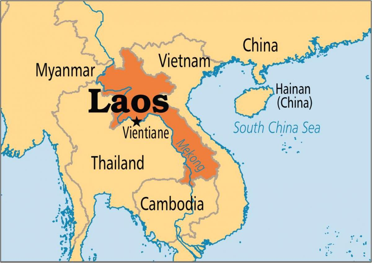 laos country in world map