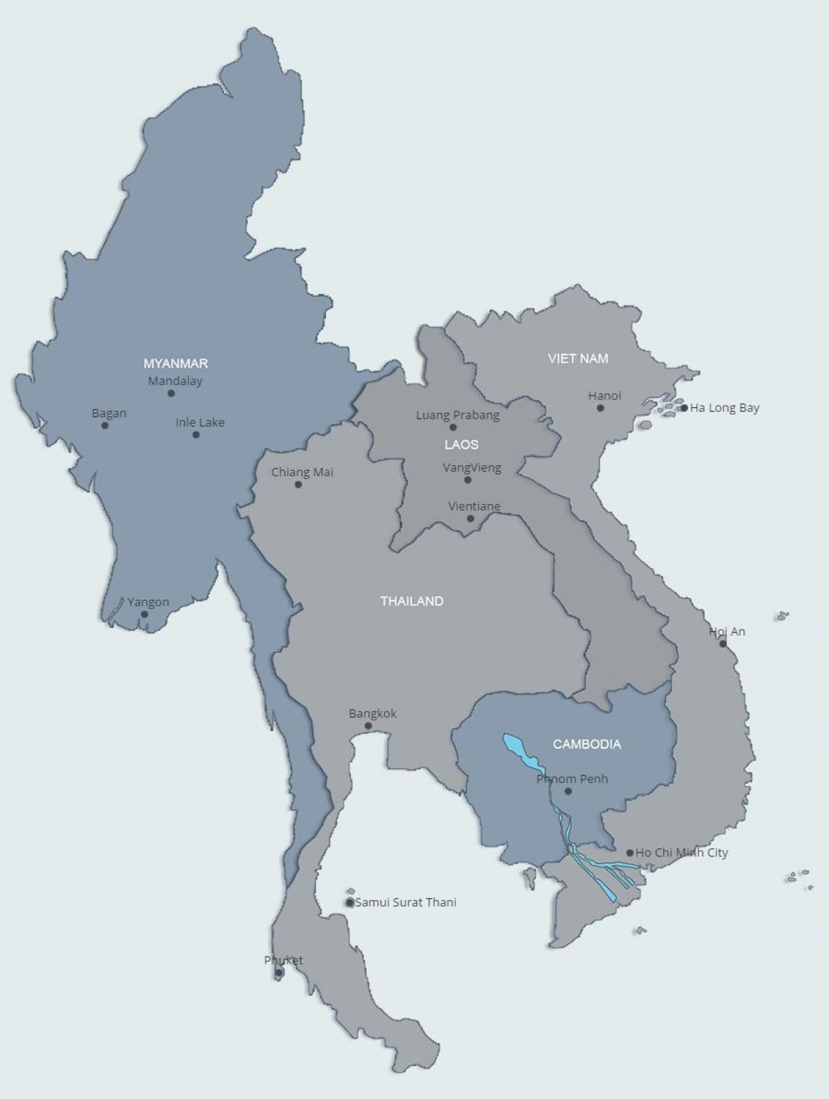 Map of northern laos