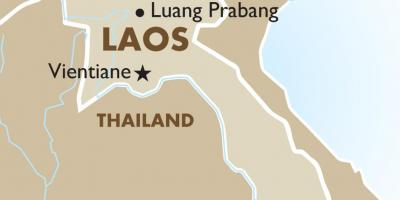 Map of capital of laos
