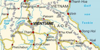 Airports in laos map