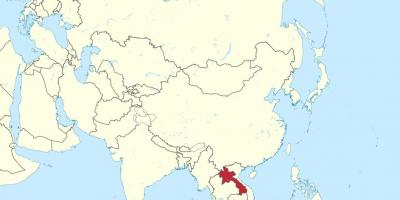 Map of laos asia