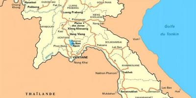 Detailed map of laos
