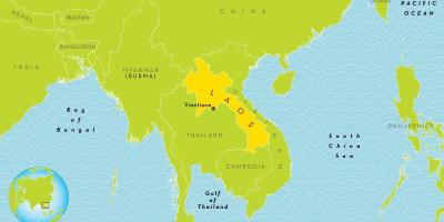 Laos location on world map