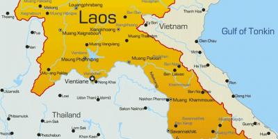 Laos on a map