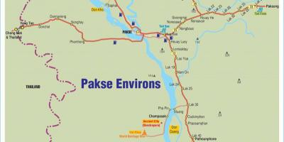 Map of pakse laos
